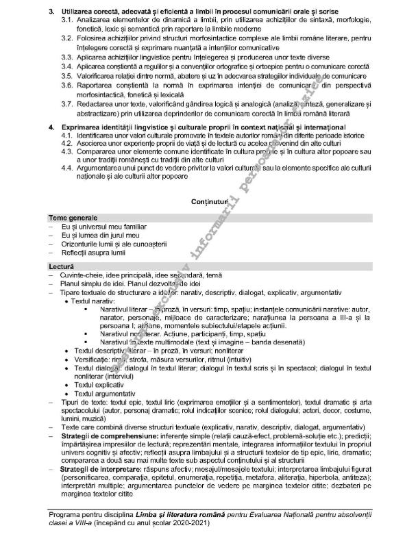 Evaluare Nationala 2021 Clasa 8